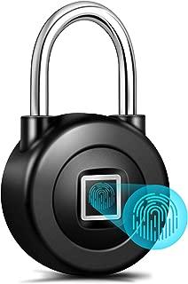 Smart Fingerprint Padlock,Bluetooth APP Control with Metal IP65 Waterproof for Gym,Door,School,Luggage Bags,Bike by Nyboer