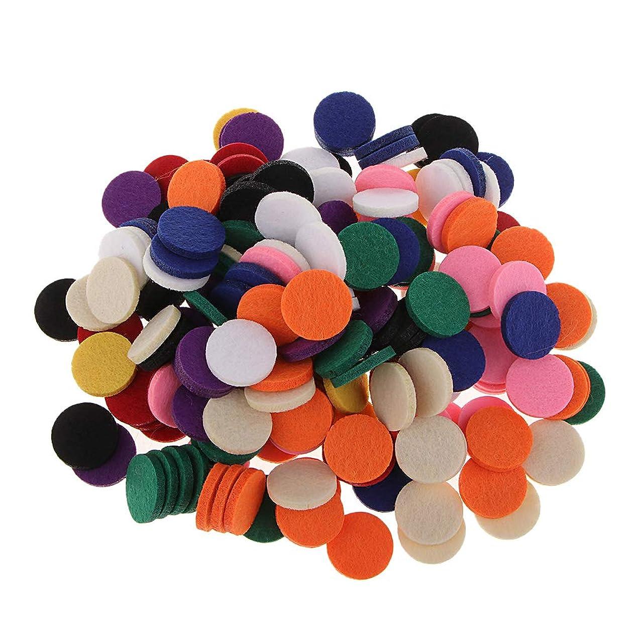 アーチ理容師機構Perfeclan アロマオイルパッド アロマパッド 詰め替えパッド チェアマット 高い吸収性 香水 全11色 約200個入り - 混在