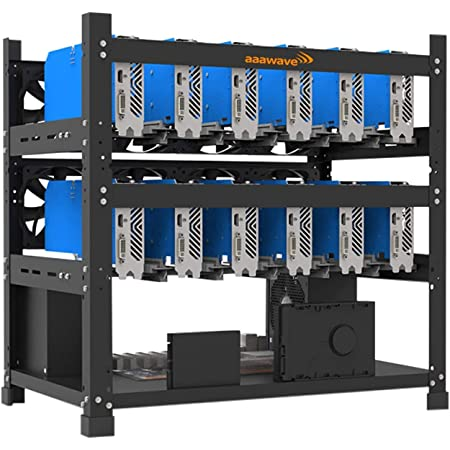AAAwave The Sluice V2 12GPU Open Frame Mining Rig Frame Chassis for Crypto Currency Ethereum Ravencoin Ergo Zcoin