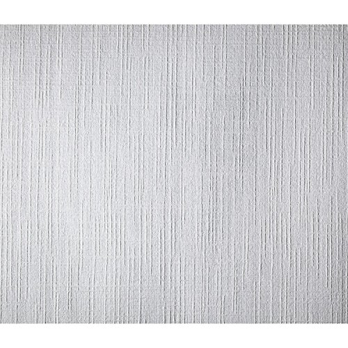York Wallcoverings Patent Decor PT9864 Course Weave Paintable Wallpaper, White