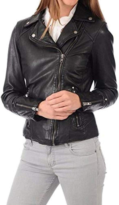 New Fashion Style Women's Leather Jackets Black K59_
