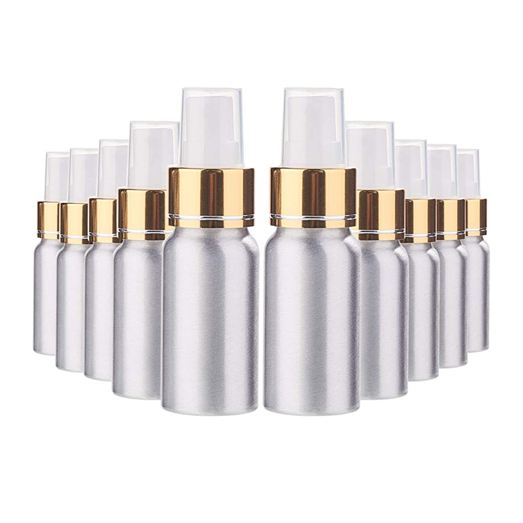 会計に負ける使い込むBENECREAT 10個セット30mlスプレーアルミボトル 空ボトル 極細のミスト 防錆 軽量 化粧品 香水 小分け 詰め替え