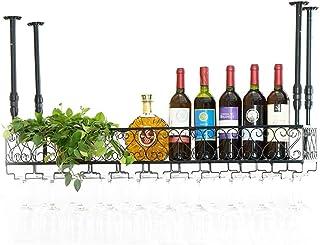 Organisation de rangement de la cuisine Casiers à vin en fer en métal Étagère de rangement Gobelets en verre à vin Champag...