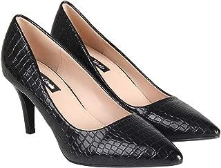 Flat n Heels Womens Black Pumps FnH 2056-1P-BK