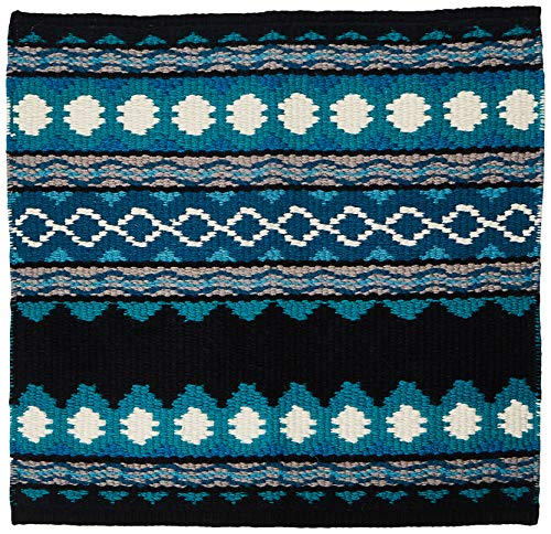 Mayatex Riverland Saddle Blanket, Black/Teal/Ocean Blue/Show Turquoise/Soft Turquoise