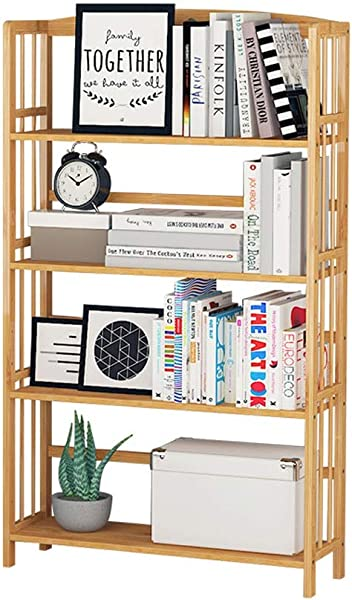 Bookcase 4 Layer Bookcase Storage Shelf For Bathroom Living Room Wood Exterior Furniture Stand Up Bookcase Color Natural Size 5026125cm