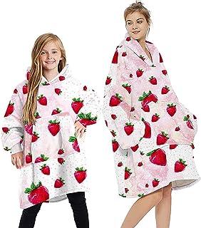 Sudadera con capucha de gran tamaño, esponjosa, divertida, cómoda, para TV, súper suave, cálida, de gran tamaño, con capuc...