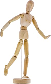 "US Art Supply Wood 12"" Artist Drawing Manikin Articulated Mannequin with Base and Flexible Body - Perfect for Drawing The ..."