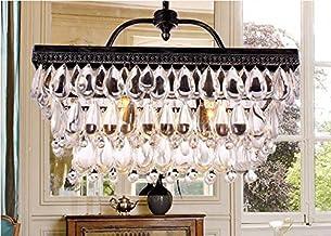 "GOWE Modern 2 Bulbs lights L20.5"" X W8"" X H15"" Crystal Chandelier vintage Pendant Lamp RainDrop suspension Light lighting ..."