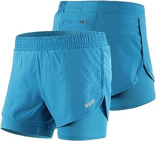 Walory Shorts de Running para Mujer - Shorts de Ciclismo de Entrenamiento Activo de Secado Rápido Transpirable de Secado R...