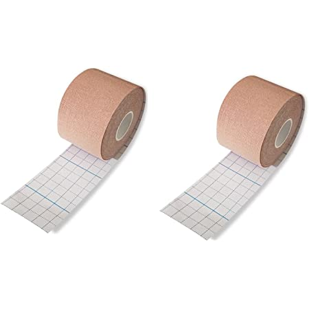 Chest Binding Tape Trans Tape for Chest FTM transtape Body Tape,Breast Lift Tape for Your Outlook Dress, Top, Backless Outfit, Swimsuit and More(2 inch * 5 m) - 2 Packs