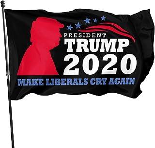 Yuanjutang Trump 2020 Flag 3x5 Ft American Banner Keep America Great Outdoor Garden Flags