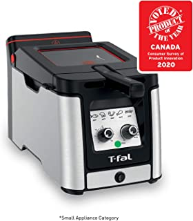 T-fal FR600D51 Odorless Stainless Steel lean Deep Fryer with Filtration System, 3.5-Liter, Silver