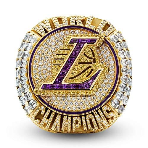 Fei Fei 2020 Los Angeles NBA Lakers James Championship Ring Anillos de Campeonato Personalizado para Fanáticos Día de San Valentín,Without Box,12