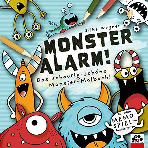 Monster-Alarm! Das schaurig-schöne Monster-Malbuch für Kinder ab 3 Jahre: Mit tollem Monster-Memo-Spiel zum Ausschneiden!