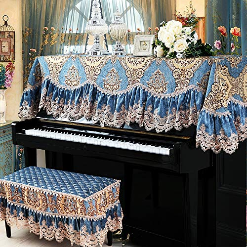 Best Buy! Forgiven Fashion Piano Cover European Style Upright Piano Cover Chenille Jacquard Lace Dus...