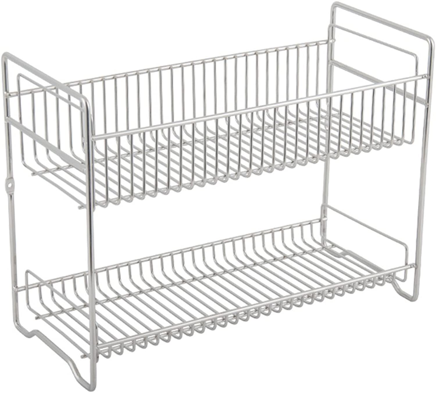 2-Tier Stainless Steel Rack Chopstick Holder Counter and Cabinet Shelf, 33 X 15 X 25cm