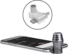 Movo MA200 3.5mm External Smartphone Microphone with Lightning Dongle Clip to Mount Mini Microphone for iPhone 7, 7 Plus, 8, X, XS, XS Max, 11, 11 Pro and Other iOS Devices (Grey)