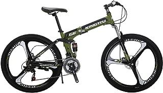 Kingttu KTG6 Mountain Bike 26 Inches 3 Spoke Wheels Dual Suspension Folding Bike 21 Speed MTB