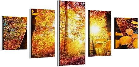 Maple Forest Landschap Muur Art Printing Decoratie voor Klaslokaal Kantoor Woonkamer Slaapkamer College Dorm Frame-style1 ...