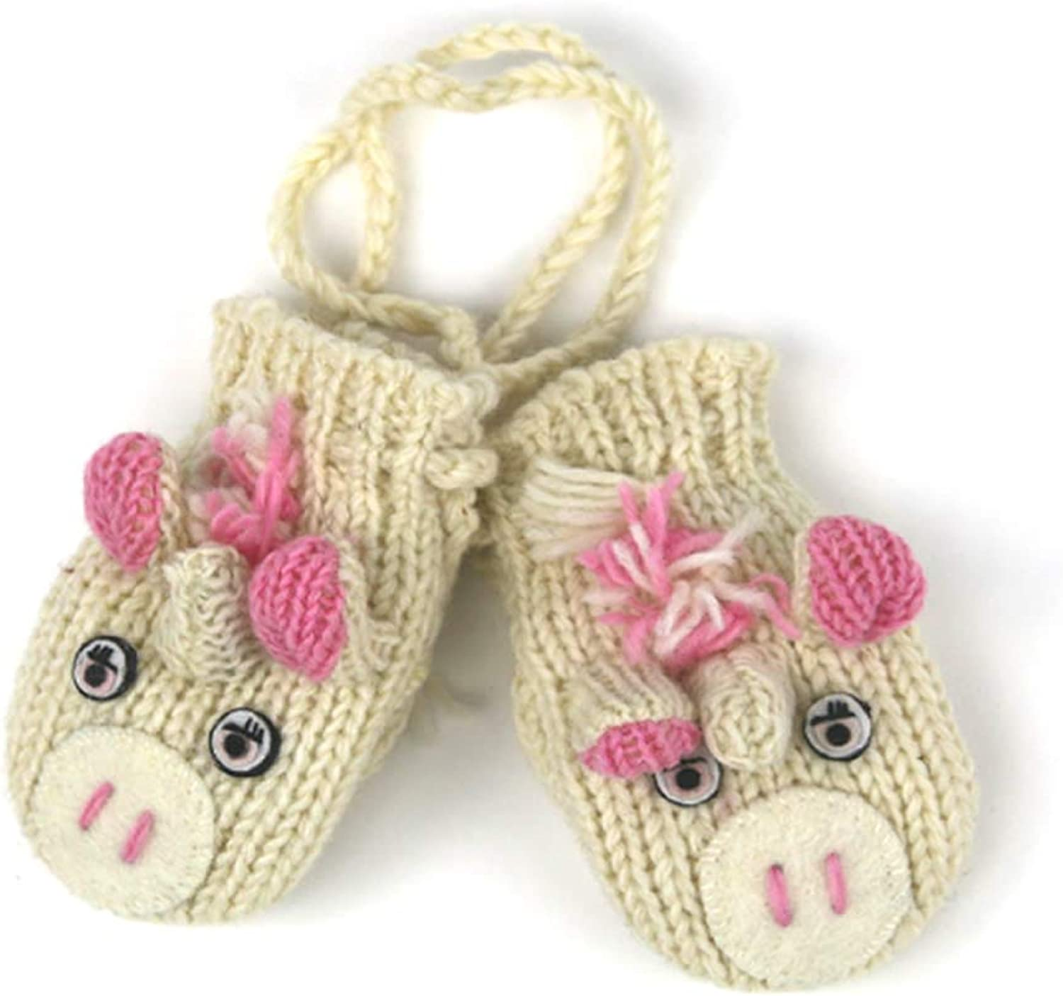 Unicorn Mittens On String For Toddlers