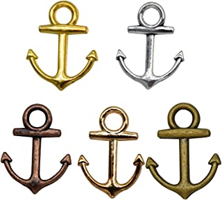 YUEKUI 50pcs Anchor Charms Pendant Jewelry Making Accessory Bronze Antique Charms 2810mm