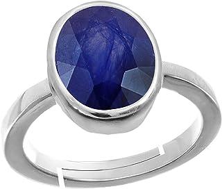 skyjewels Adult Adjustable 5.25 Ratti Sapphire Gemstone Neelam Ring Free Size Blue