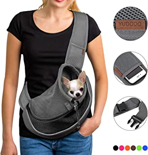 YUDODO Pet Dog Sling Carrier Breathable Mesh Travel Safe...