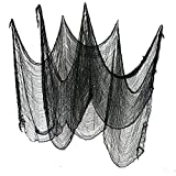 Gardeningwill Set of 2 Black Creepy Scary Gauze Cloth Doorways for Walls Entryways Halloween 30'x84' with Spiders White Webs