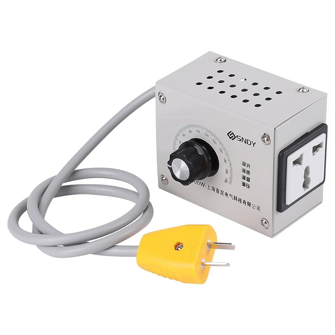 かかわらずインスタンス震え可変電圧コントローラ 電子ボルトレギュレータ USプラグ4000W AC 220V制御ファン速度用モータツール