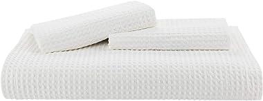 Bedsure Cotton Duvet Cover Set - 100% Cotton Waffle Weave Coconut White Duvet Cover Queen Size, Soft and Breathable Queen Duv