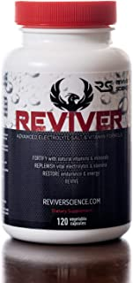 REVIVER Electrolyte Capsules, 120 Electrolytes Salt Tablets Pills - Perfect Keto Supplement - Trace Minerals for Cycling & Runners Hydration - Hangover Prevention & Morning Recovery - Leg Cramp Relief