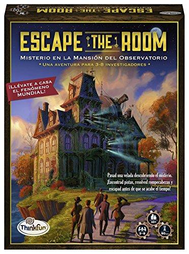 ThinkFun 76368, Escape The Room: Misterio en la Mansión del Observatorio, Juego de mesa, Versión en Español, 3-8 Jugadores, Edad Recomendada 10+