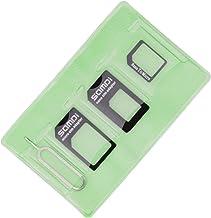 Samdi Sim Card Adapter Kit Includes Nano Sim Adapter - Micro Sim Adapter - Needle - Storage Sleeve (Sim Card Holder), Easy to Use and Storage, Don't Lose Them (Black)