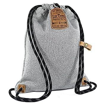 LOCTOTE Flak Sack II - World s Toughest Theft-Resistant Drawstring Backpack   Slash-Proof   Lockable   Portable Safe  Heather Grey