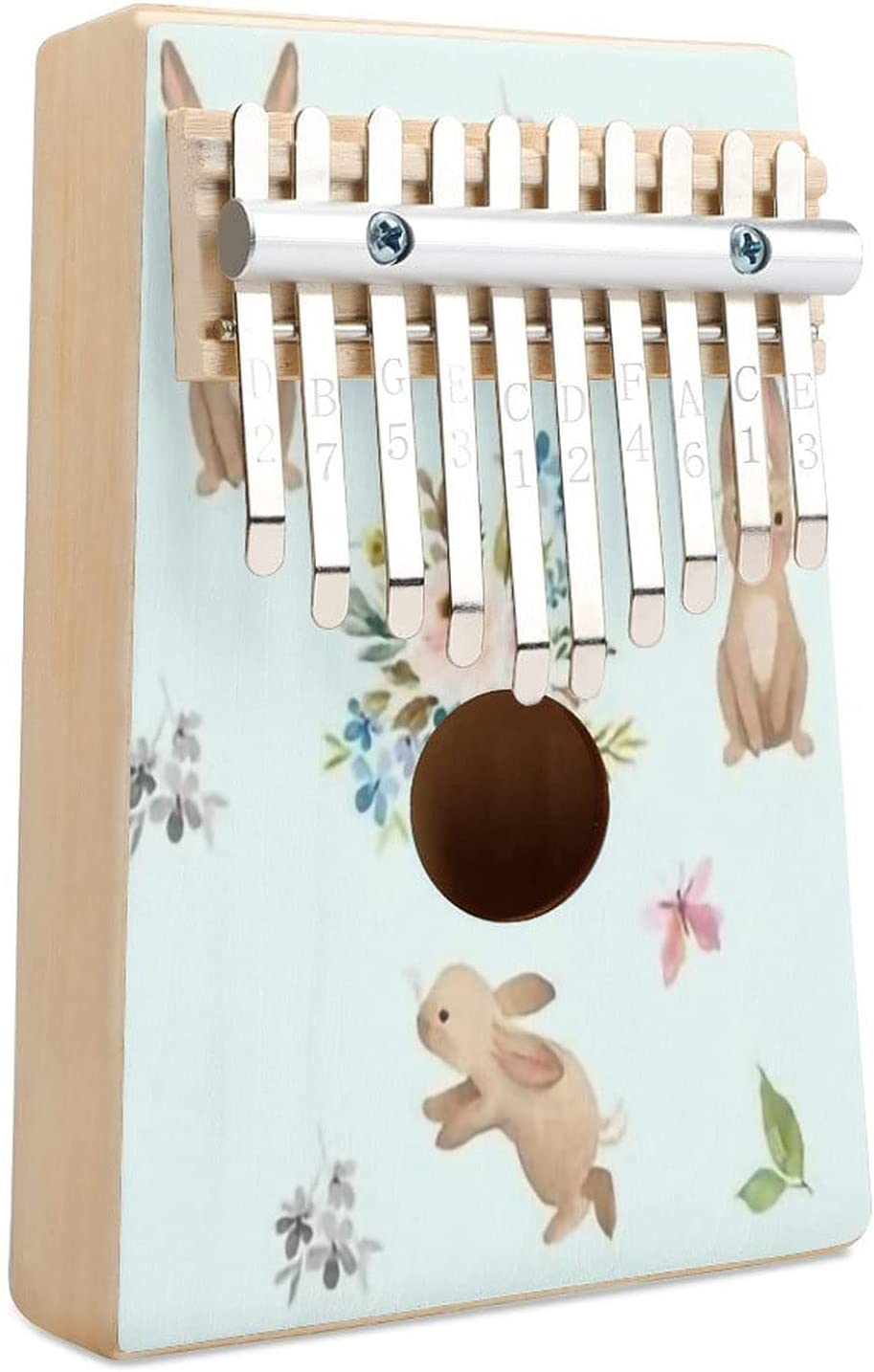 Spring Time Fun Selling and selling Bunnies Blue Kalimba P Finger 10 Thumb Key Raleigh Mall Piano