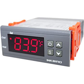 Inkbird All-Purpose Digital Temperature Controller Fahrenheit and Centigrade Thermostat with Sensor 2 Relays ITC-1000 for Refrigerator Fermenter