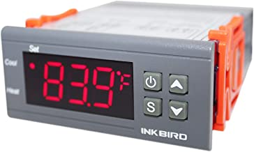 Inkbird All-Purpose Digital Temperature Controller Fahrenheit and Centigrade Thermostat with Sensor 2 Relays ITC-1000 for Refrigerator Fermenter
