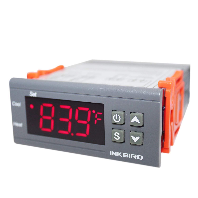 Inkbird All-Purpose Digital Temperature Controller Fahrenheit and Centigrade Thermostat with Sensor 2 Relays ITC-1000F for Refrigerator Fermenter: Industrial & Scientific