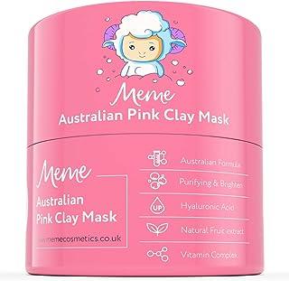 MeMe Australian Pink Clay Mask | Korean Skin Care, 100% Natural Kaolin Clay | Acne Recovery, Blackhead Deep Pore Cleanse, ...