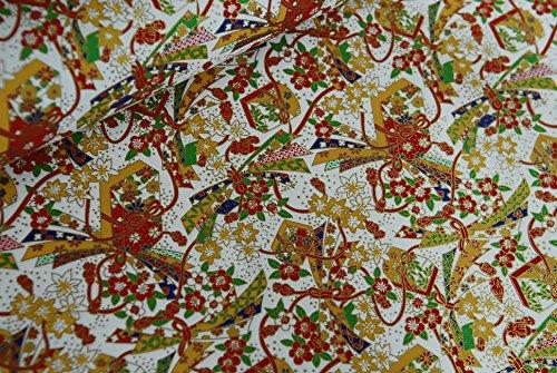 Papel tradicional japonés chiyogami yuzen ~ hoja grande 61 x 45 cm ~ Ref: WH61