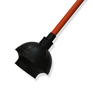 Get Bats Out Toilet Plunger for Bathroom Use on Heavy Duty Clogs in Toilet Bowls and Sinks in Homes, Commercial and Industrial Buildings. Comes with Free eBook How to Poop Like a Pro