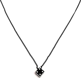 caiyao Multi-Style Choker Chain Dice Pendant Necklace Thick Cuban Chunky Chain Punk Gothic Adjustable Pendant Hip-hop Cool...