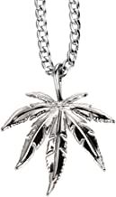 TIDOO Jewelry in Marijuana WE Trust Men's Weed Leaf Pendant Necklace 18k Real Gold/Silver Plated 30