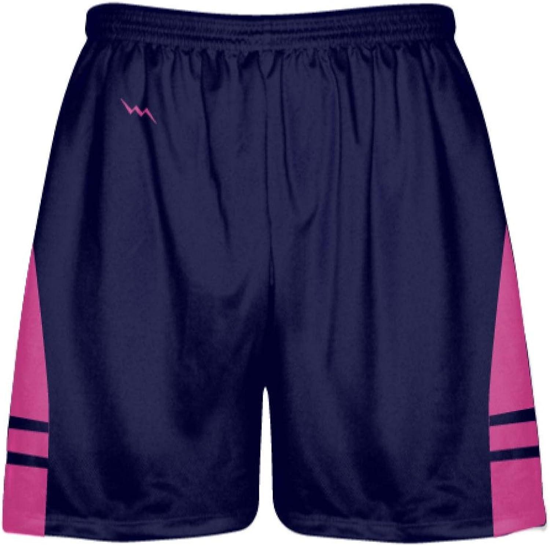 LightningWear OG Navy Hot Pink Lacrosse ShortsMens Kids Lax Shorts