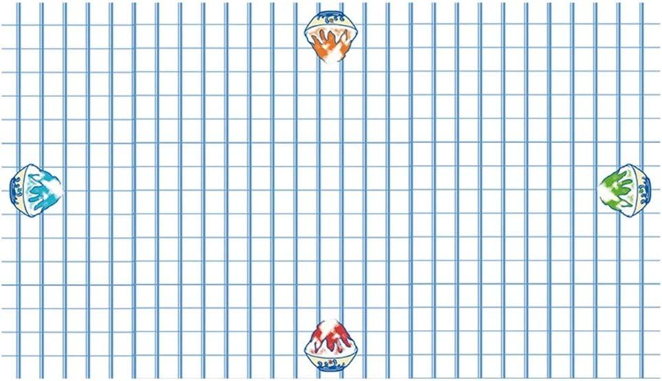 HAIZHEN- Waterproof Rectangular Trust Tablecloth Rapid rise Latti PVC Light Blue