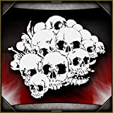 Skull Background 10 AirSick Airbrush Stencil Template
