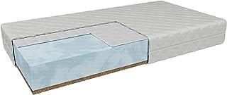 Hyggelia Colchón infantil con entrada de trigo sarraceno ENNA H3/H3, dureza media, altura: 9 cm, inserto de fibra de coco/climática, colchón reversible, cubierta antialérgico extraíble (70 x 120 cm)