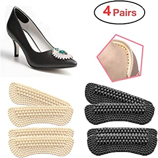 Heel Cushion Inserts for Women|4 Pairs(2mm Thickness respectively) | Heel Protectors|Heel Pads |Heel Grips| High Heel Insert Preventing Heel Rubbing and Blisters and Slip Out(Beige+Black)(B)