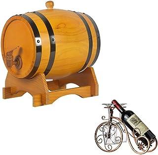 Tonneau à vin en Bois 3L Tonneau de vin en Bois Fût de Whisky, Tonneau De Chêne Vintage Fontaine à Eau, Convient pour Le B...